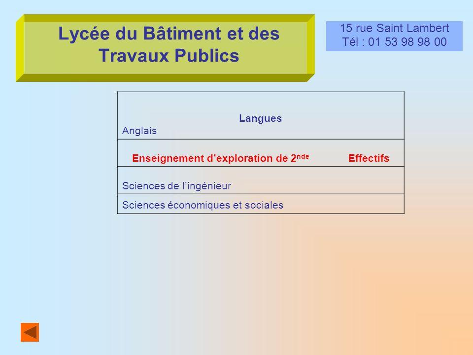 Lycée du Bâtiment et des Travaux Publics