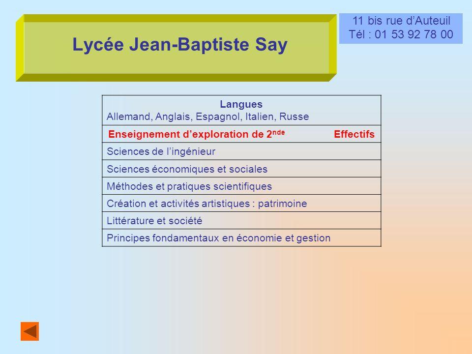Lycée Jean-Baptiste Say