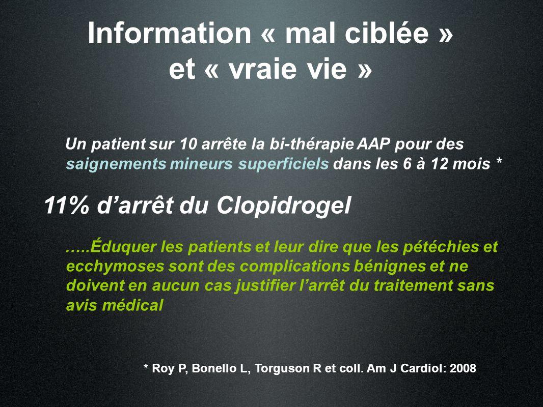 Information « mal ciblée » et « vraie vie »