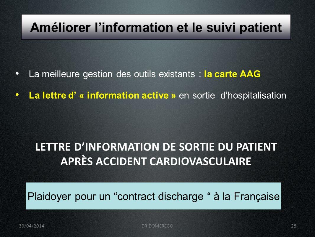 Améliorer l'information et le suivi patient
