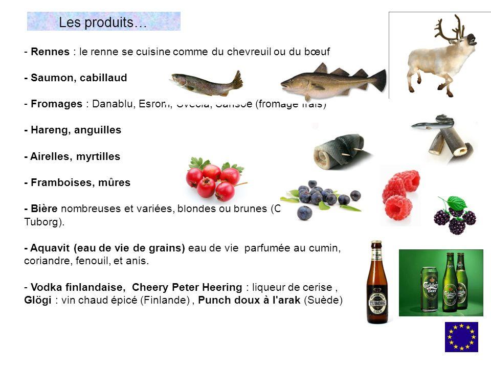 Les produits… Rennes : le renne se cuisine comme du chevreuil ou du bœuf. - Saumon, cabillaud.