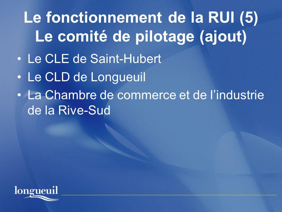 Le fonctionnement de la RUI (5) Le comité de pilotage (ajout)