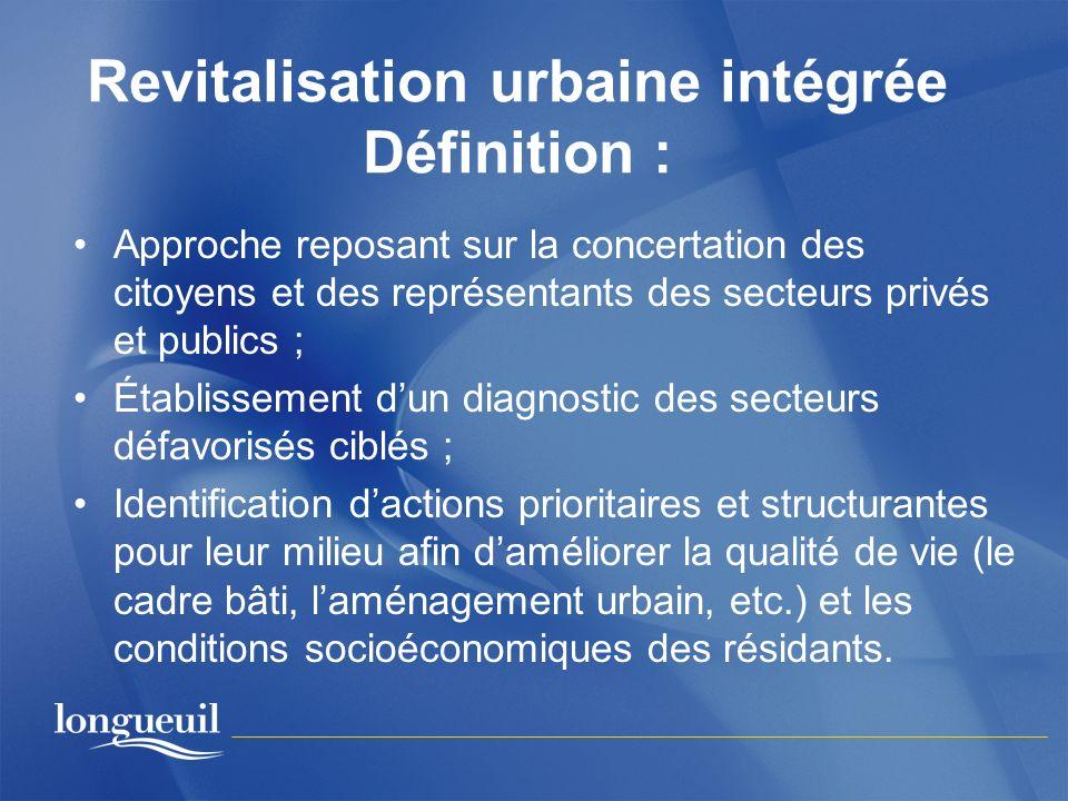Revitalisation urbaine intégrée Définition :