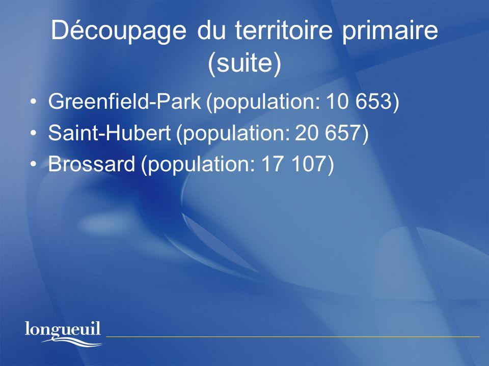 Découpage du territoire primaire (suite)