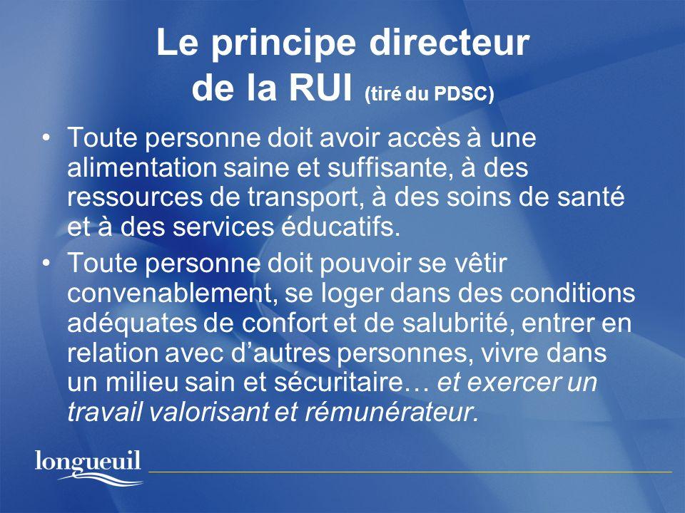 Le principe directeur de la RUI (tiré du PDSC)