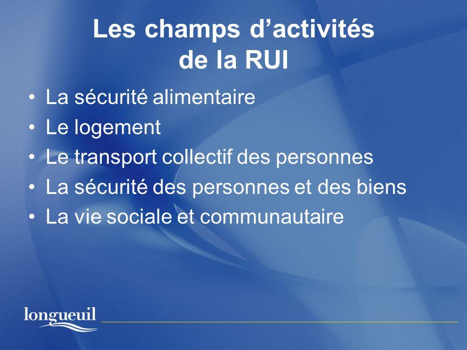 Les champs d'activités de la RUI