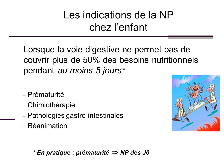Les indications de la NP chez l'enfant