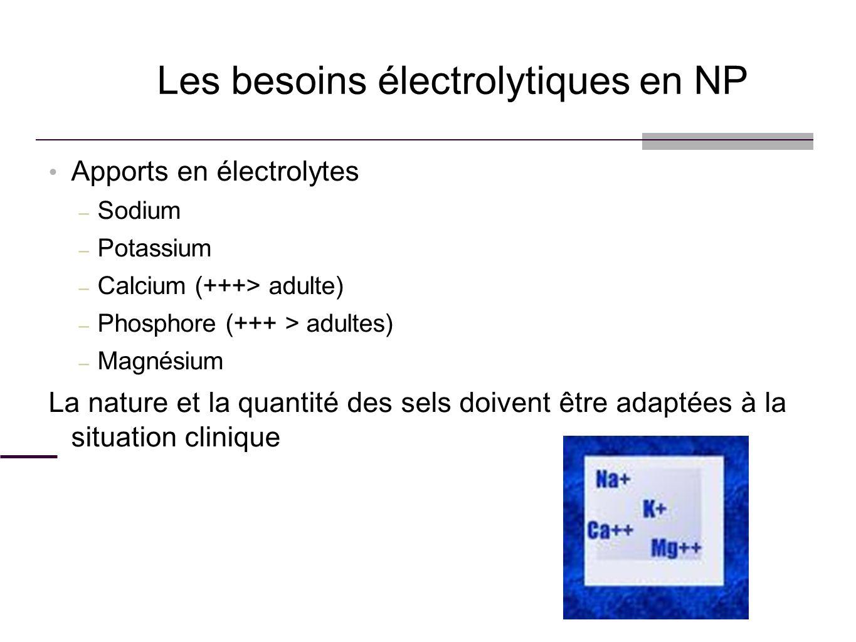 Les besoins électrolytiques en NP