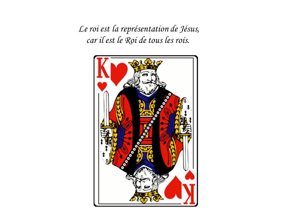 Le roi est la représentation de Jésus, car il est le Roi de tous les rois.