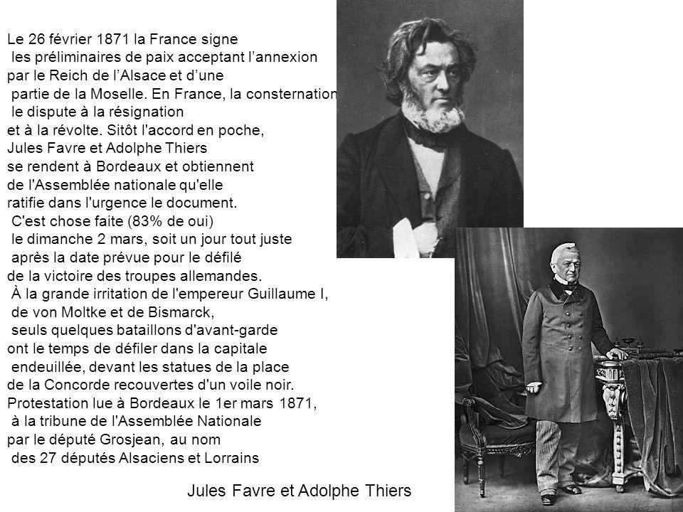 Jules Favre et Adolphe Thiers