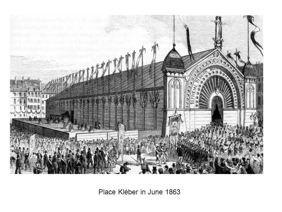 Place Kléber in June 1863