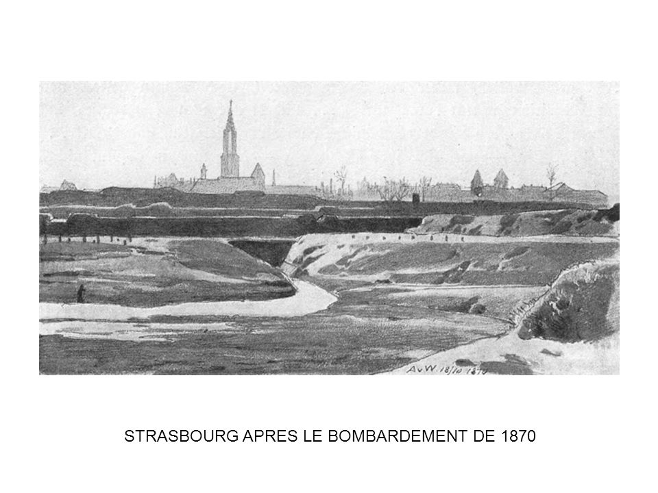 STRASBOURG APRES LE BOMBARDEMENT DE 1870