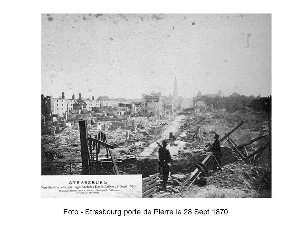 Foto - Strasbourg porte de Pierre le 28 Sept 1870