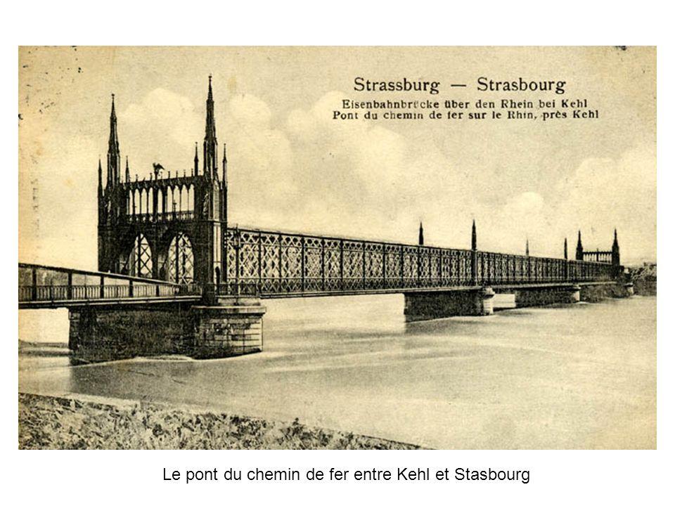 Le pont du chemin de fer entre Kehl et Stasbourg