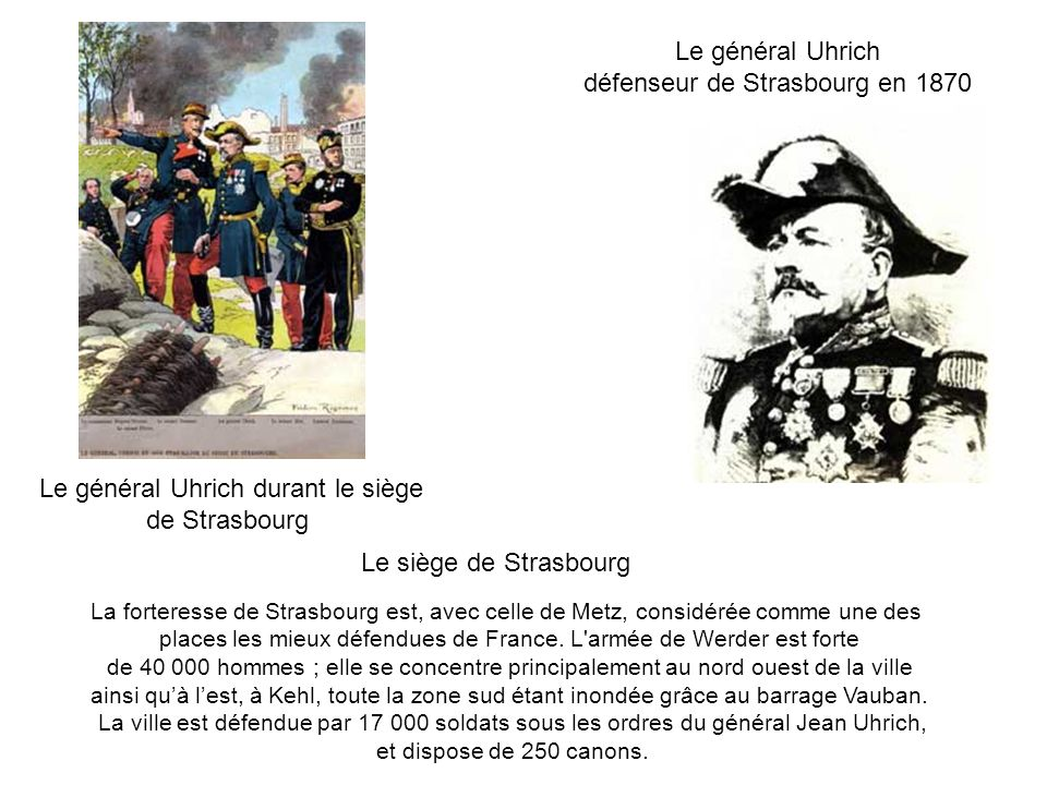 défenseur de Strasbourg en 1870