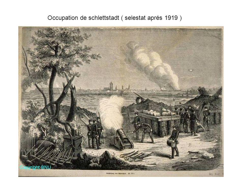 Occupation de schlettstadt ( selestat aprés 1919 )