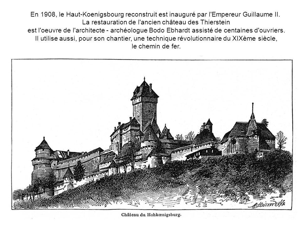 La restauration de l ancien château des Thierstein