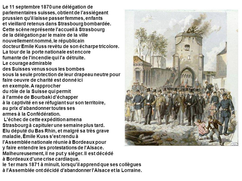 Le 11 septembre 1870 une délégation de