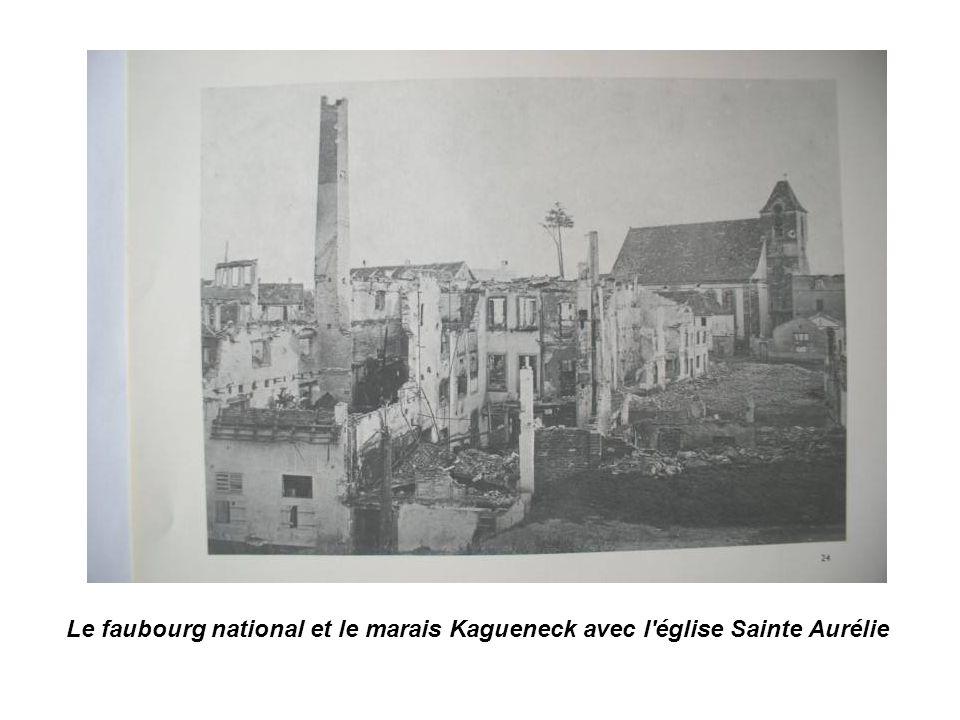 Le faubourg national et le marais Kagueneck avec l église Sainte Aurélie