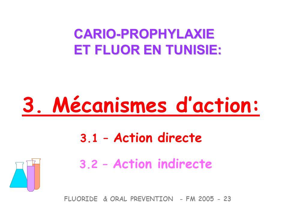3. Mécanismes d'action: CARIO-PROPHYLAXIE ET FLUOR EN TUNISIE: