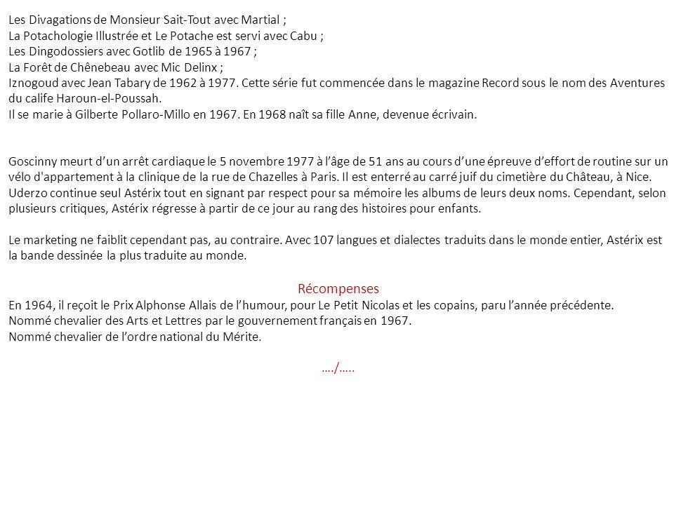 Récompenses Les Divagations de Monsieur Sait-Tout avec Martial ;