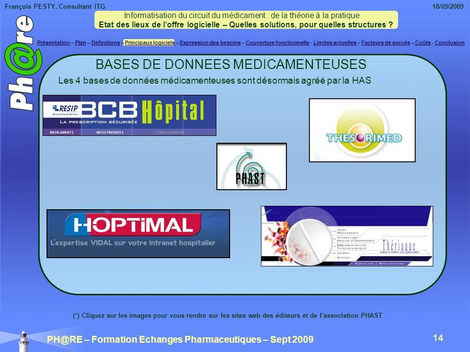 BASES DE DONNEES MEDICAMENTEUSES