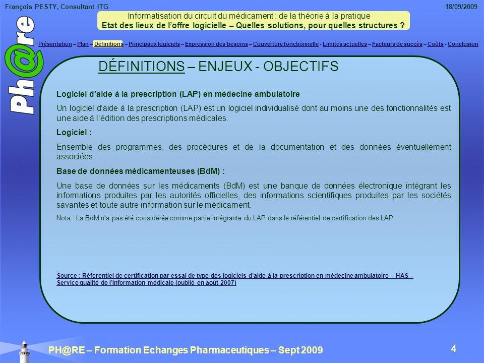 DÉFINITIONS – ENJEUX - OBJECTIFS