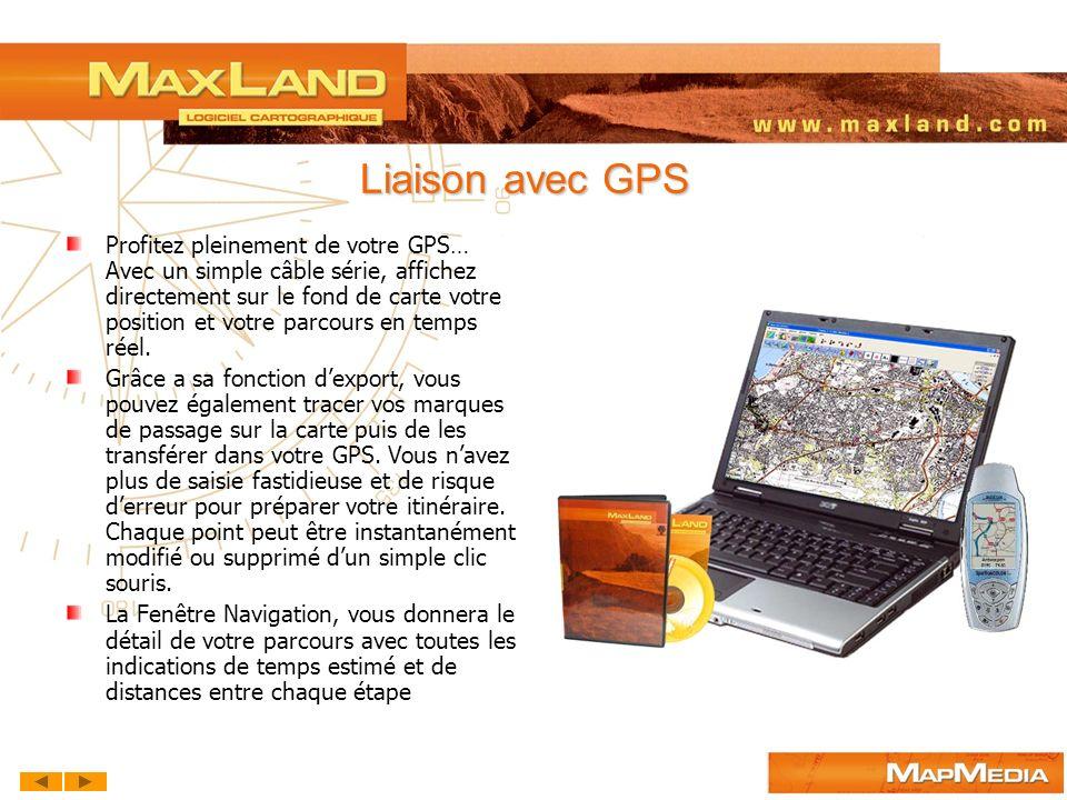 Liaison avec GPS