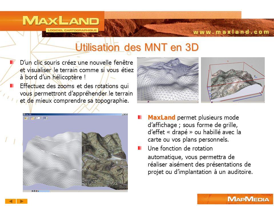 Utilisation des MNT en 3D