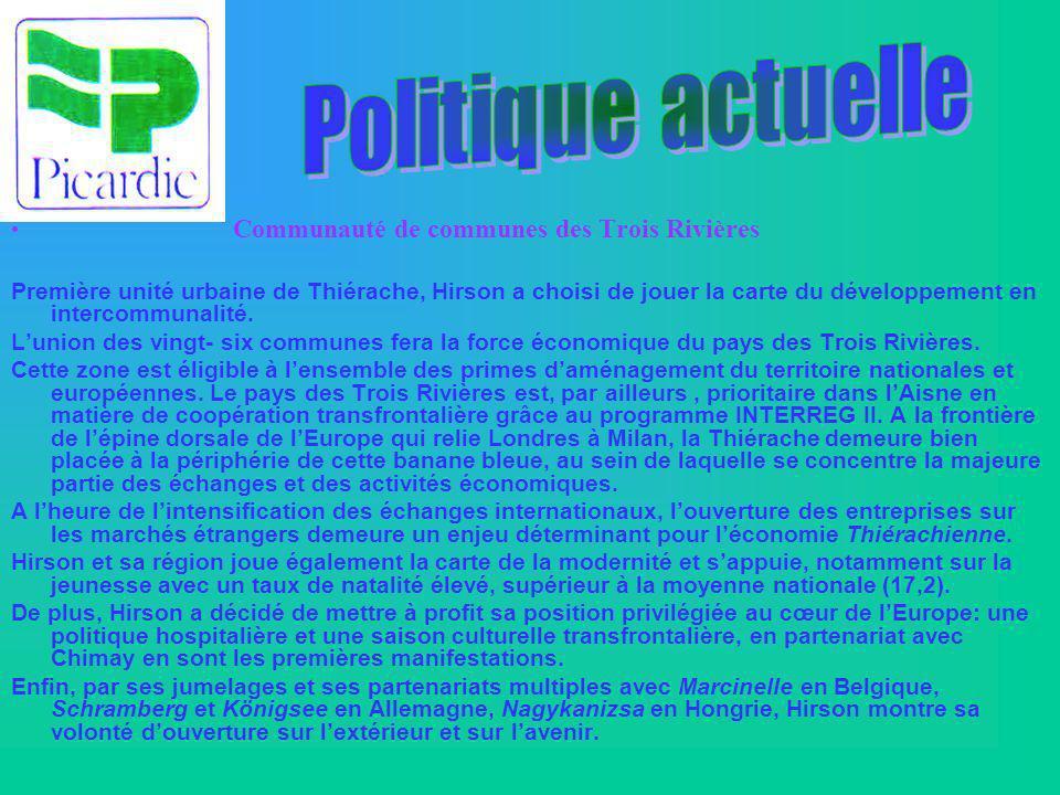 Politique actuelle Communauté de communes des Trois Rivières