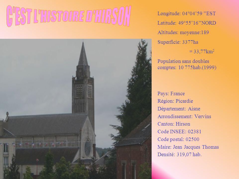 C EST L HISTOIRE D HIRSON