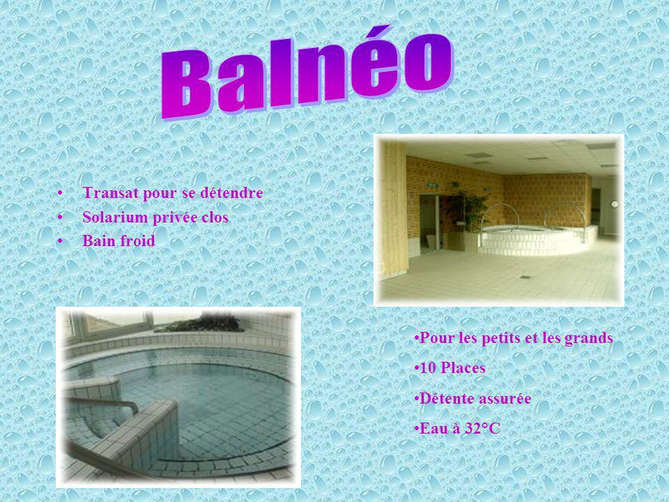 Balnéo Transat pour se détendre Solarium privée clos Bain froid