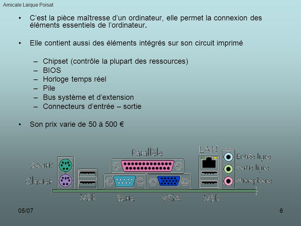 Elle contient aussi des éléments intégrés sur son circuit imprimé