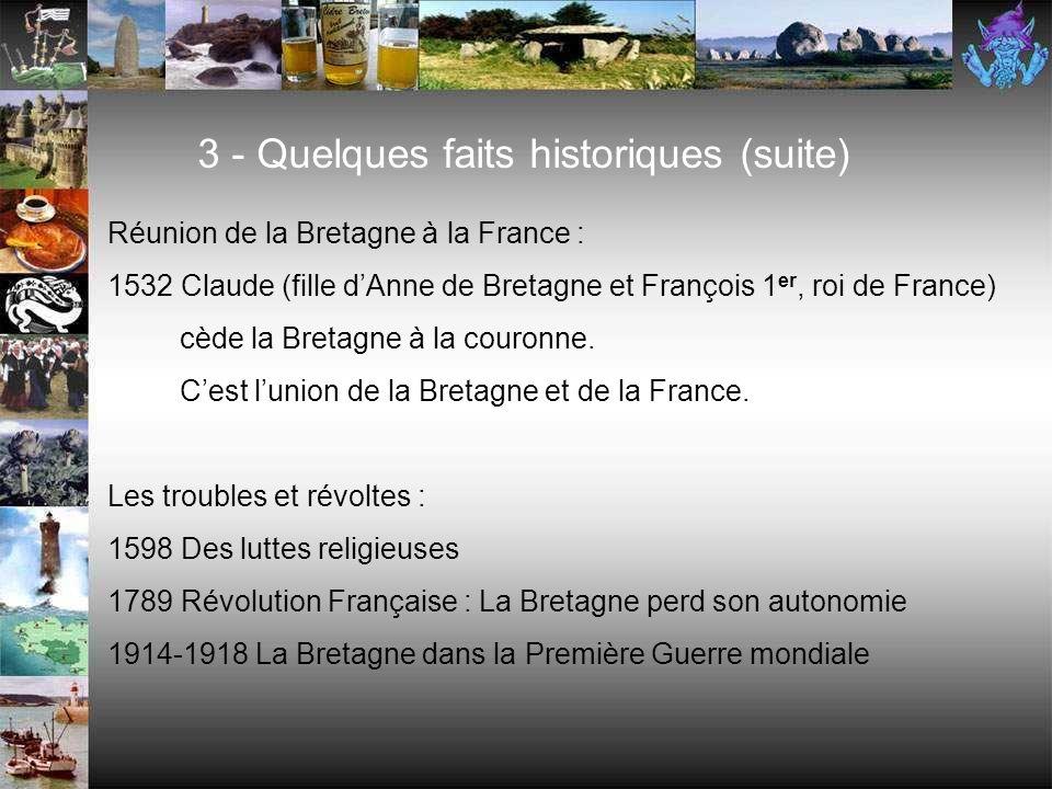 3 - Quelques faits historiques (suite)