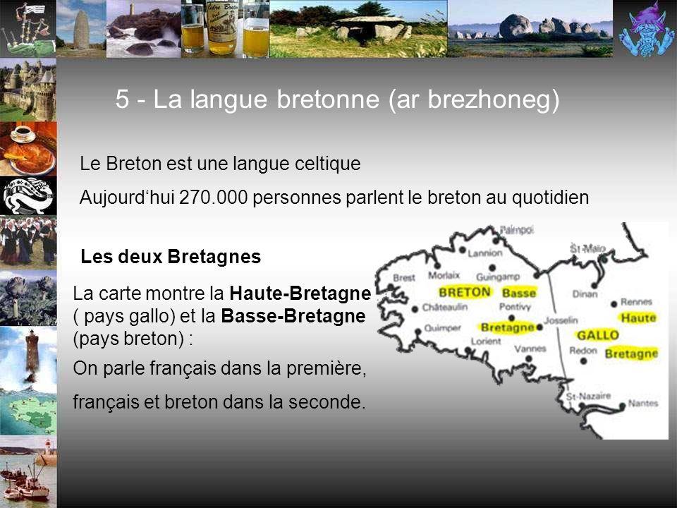 5 - La langue bretonne (ar brezhoneg)