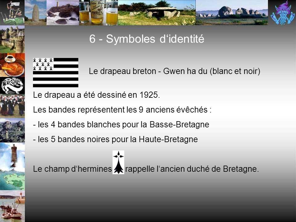 6 - Symboles d'identité Le drapeau breton - Gwen ha du (blanc et noir)