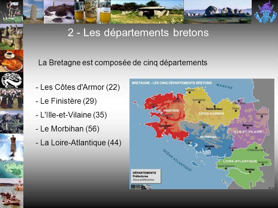 2 - Les départements bretons