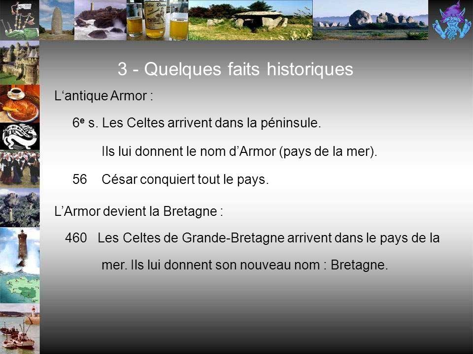 3 - Quelques faits historiques