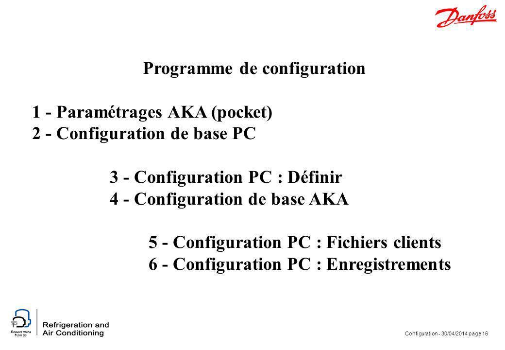 Programme de configuration