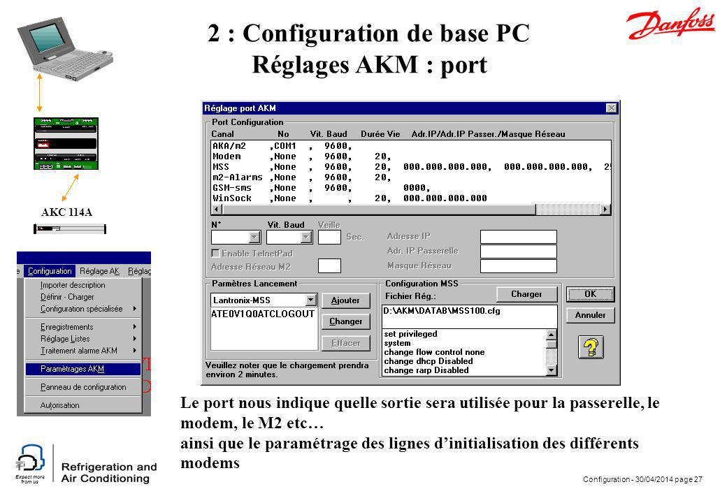 2 : Configuration de base PC