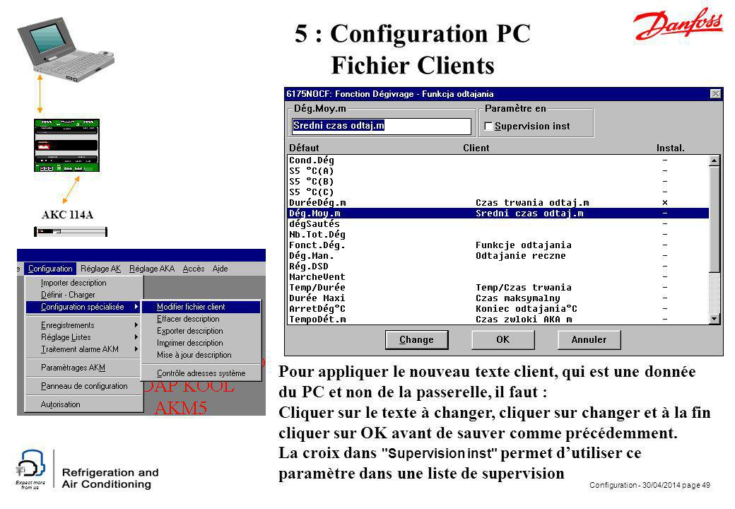 5 : Configuration PC Fichier Clients