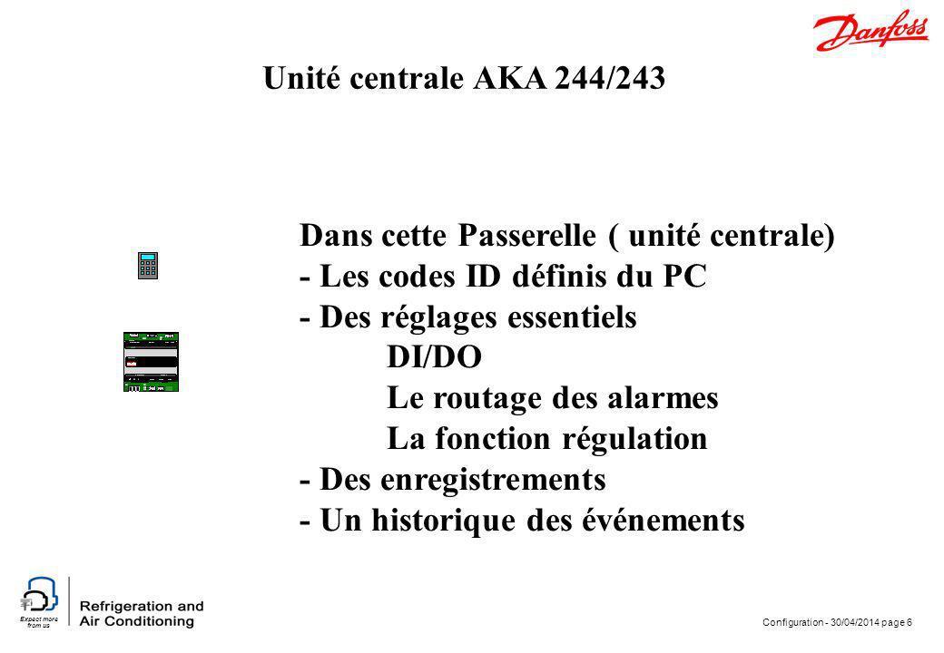 Dans cette Passerelle ( unité centrale) - Les codes ID définis du PC