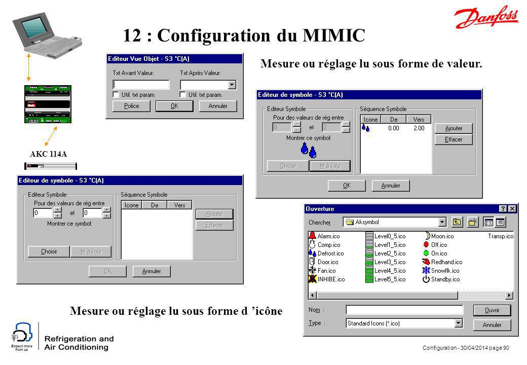 12 : Configuration du MIMIC