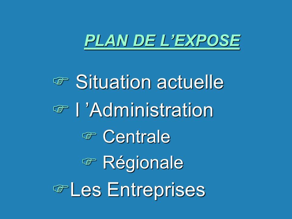 Situation actuelle l 'Administration Les Entreprises Centrale