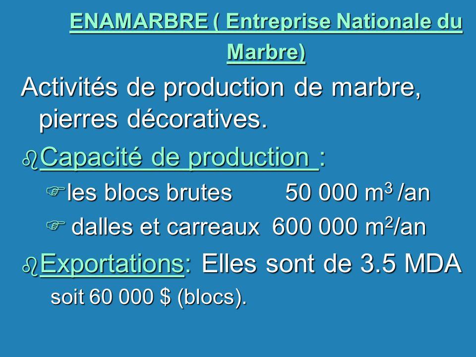 ENAMARBRE ( Entreprise Nationale du Marbre)