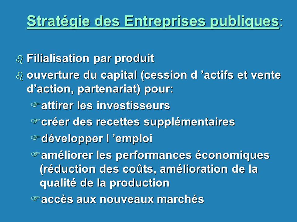 Stratégie des Entreprises publiques: