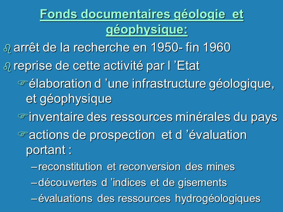 Fonds documentaires géologie et géophysique: