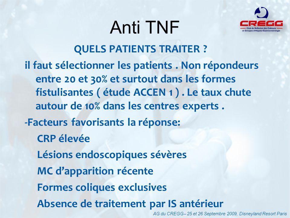 Anti TNF QUELS PATIENTS TRAITER