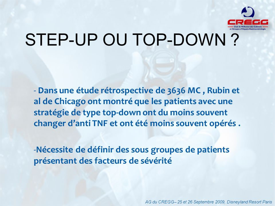 STEP-UP OU TOP-DOWN