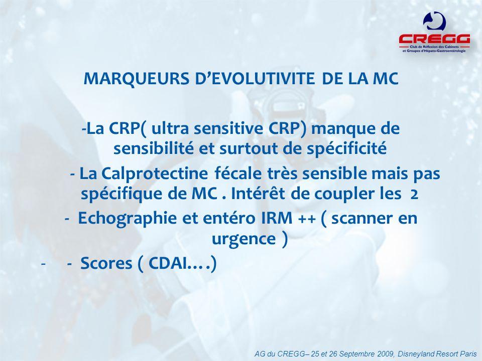 MARQUEURS D'EVOLUTIVITE DE LA MC